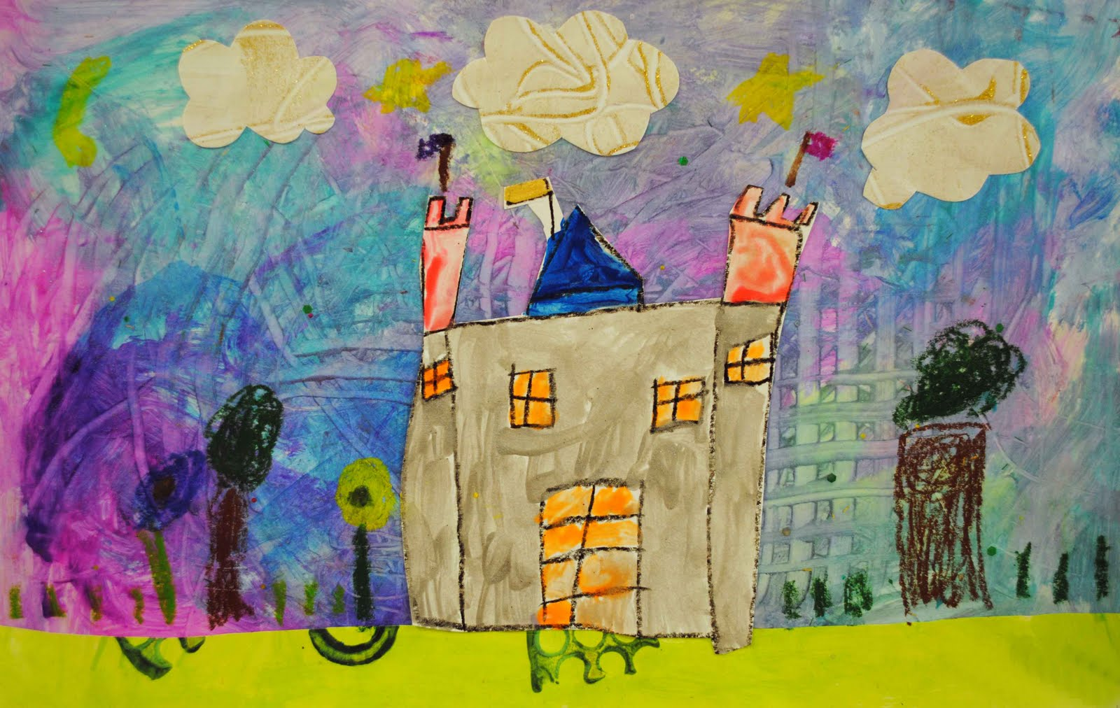Kindergarten Collage Castles