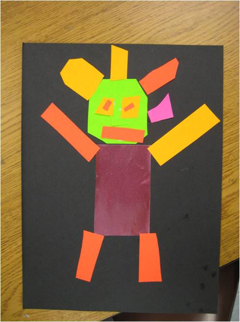 Kindergarten Robot Collages