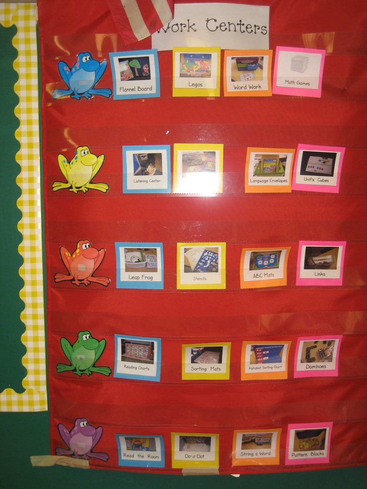 Kindergarten Hoppenings Work Centers