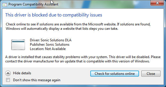 Technologies In Ratology Sonic Solutions Dla Driver Blocked On