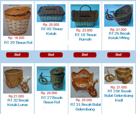 Wadah Rotan Tersedia Variasi  Souvenir Cantik