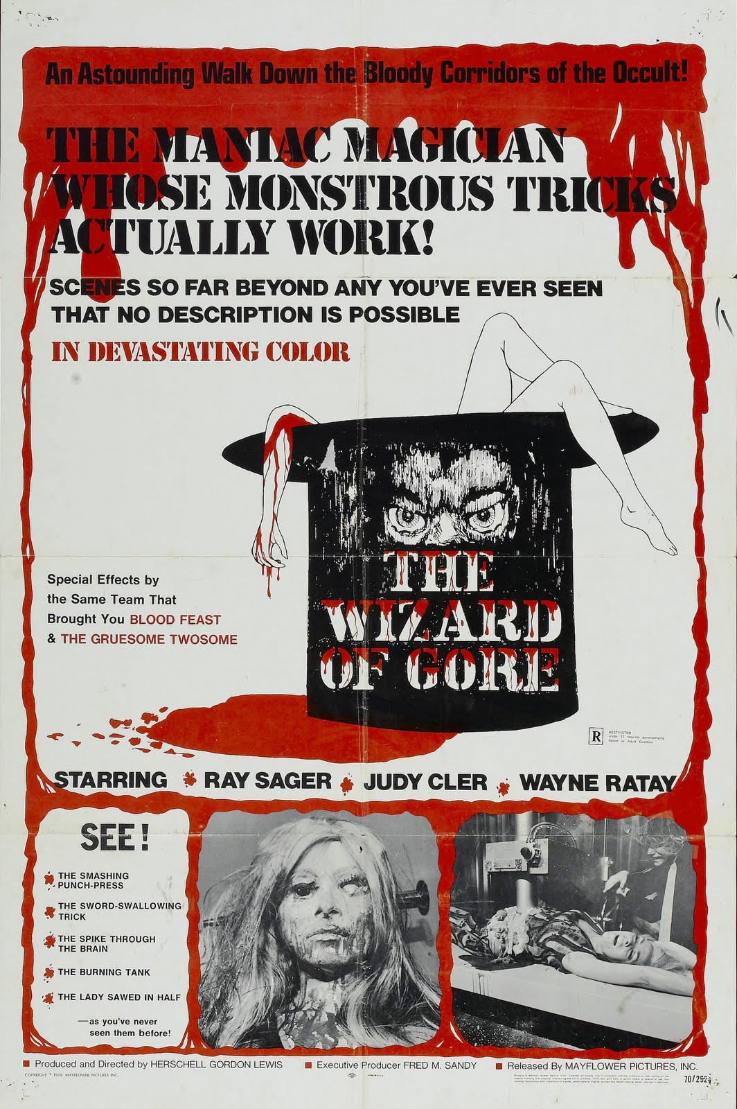 Image result for herschell gordon lewis wizard of gore