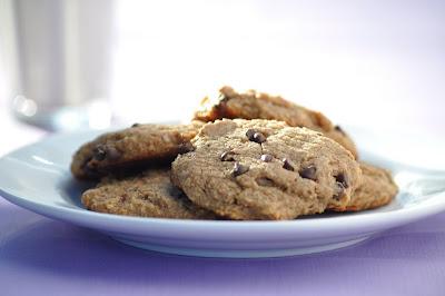 Gluten-Free, Vegan, Flourless Chocolate Chip Cookies