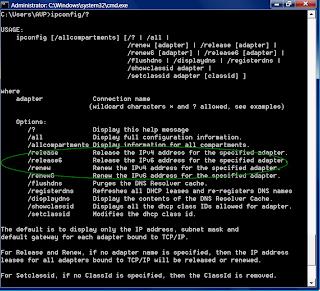 windows 10 ipconfig release renew