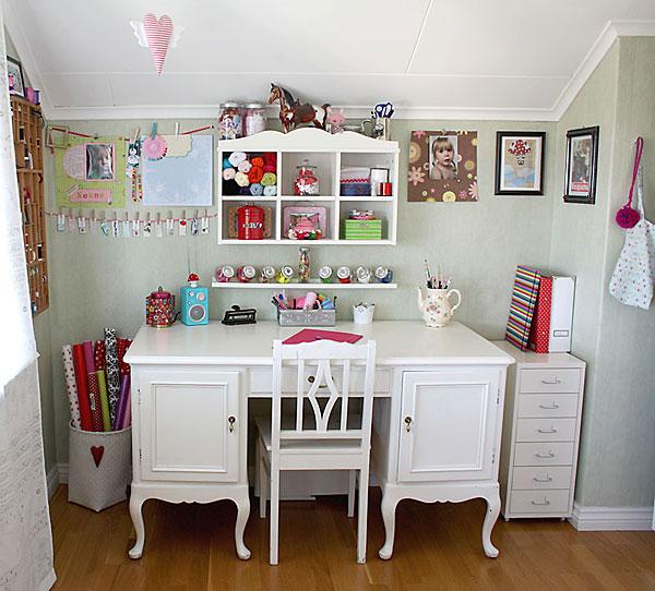 Decoração de craftroom ou ateliê de artes. Blog Achados de Decoração
