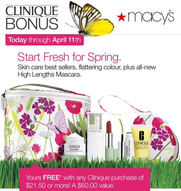 beauty all that clinique bonus at macy s spring 2010