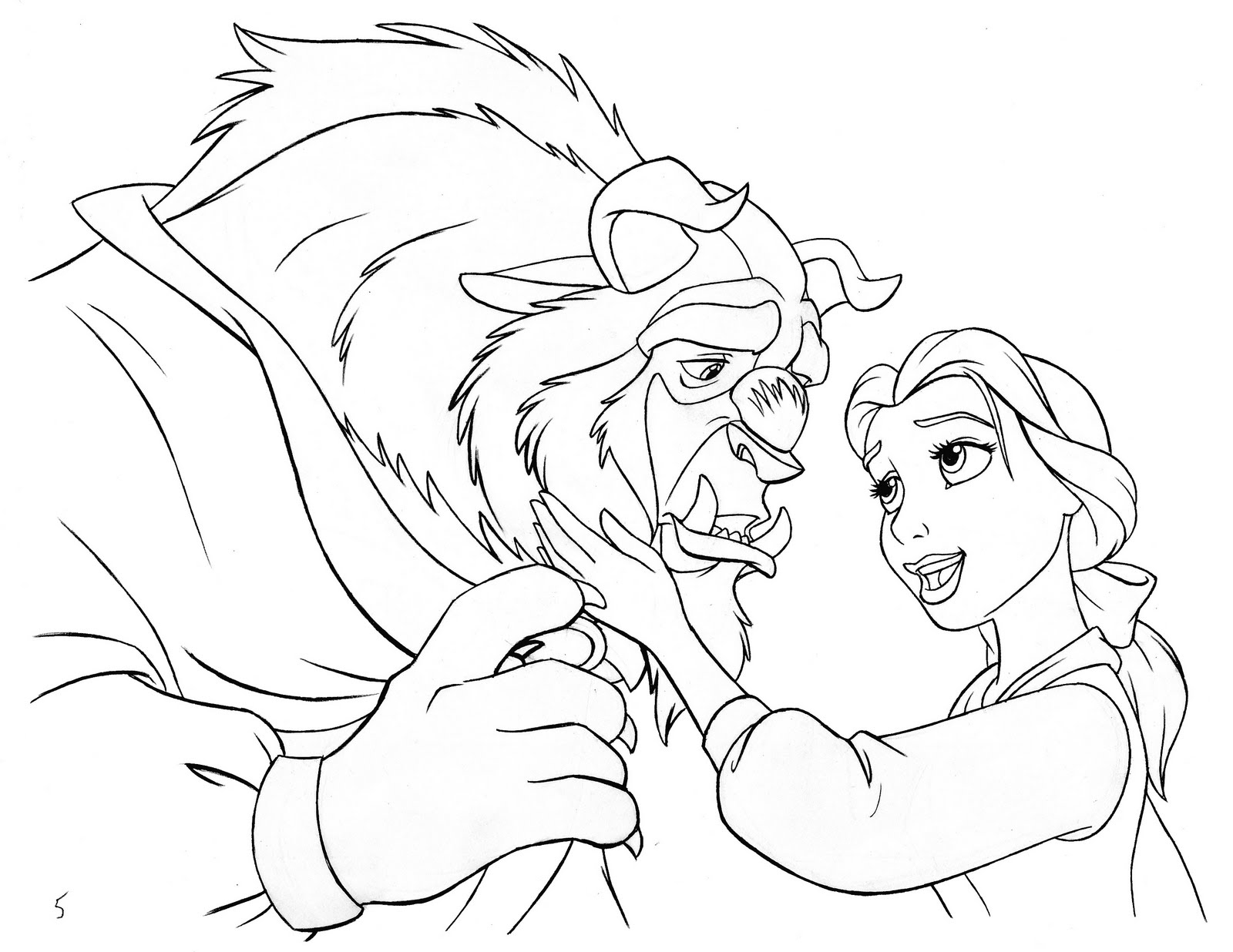 Ron Cohee Portfolio Beauty And The Beast Illustration