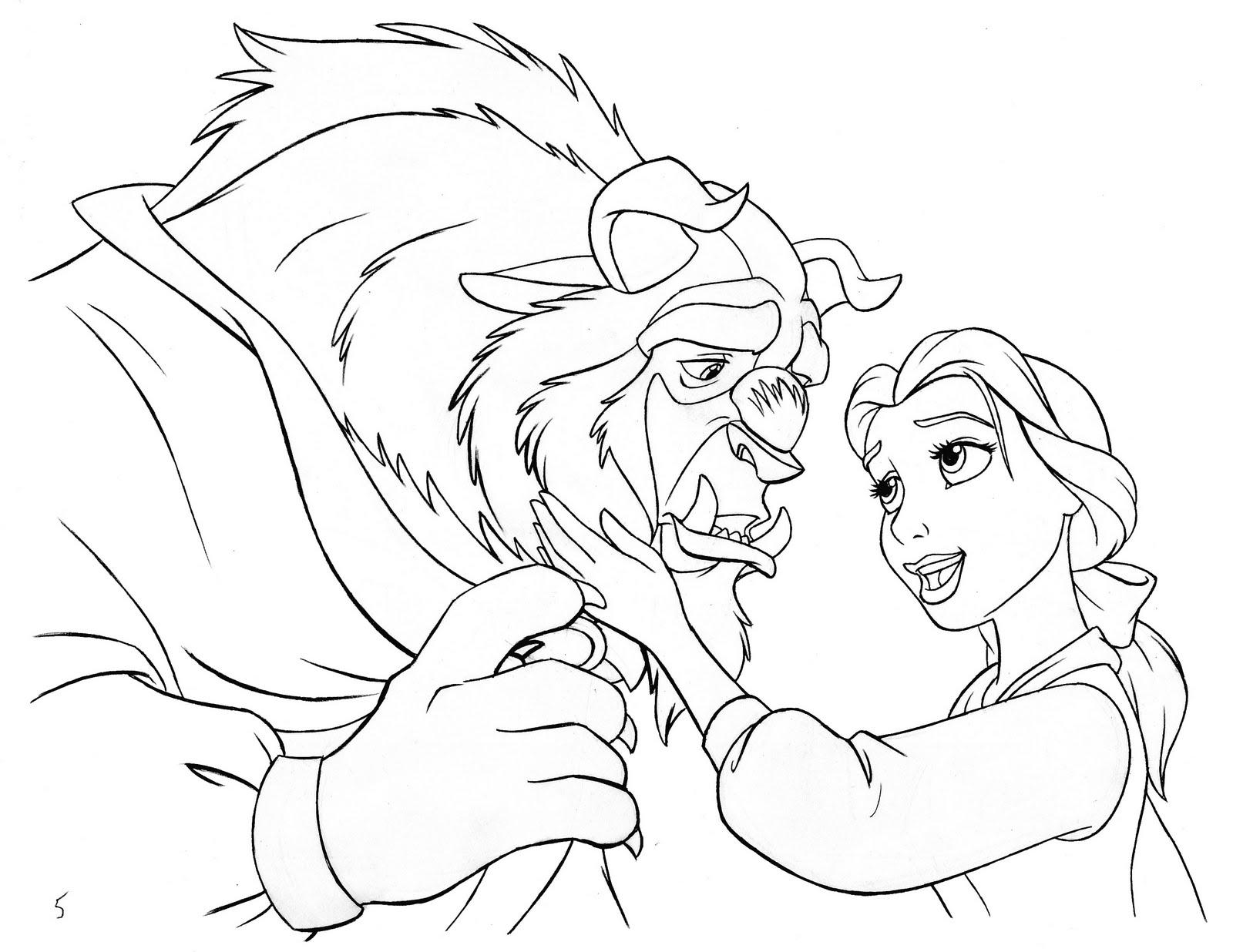 Ron Cohee Portfolio : Beauty and the Beast illustration