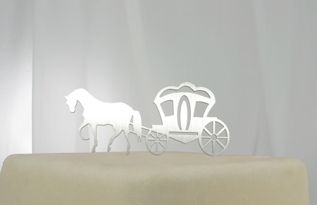 Horse And Carriage Cake Topper Decorate With Swarovski Crystals At Online