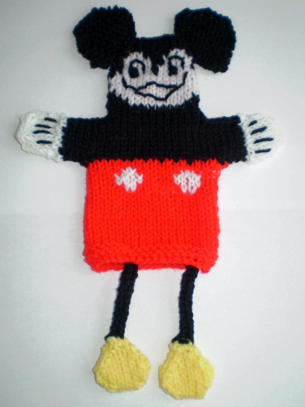 Musings of the Puppet Lady: Mickey Mouse Puppet Knitting ...