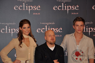 Xavier Samuel y Ashley Greene de Eclipse en Madrid
