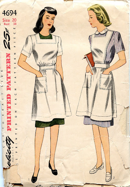 ac9150d87d5c2 Simplicity 4694 - Official Red Cross Home Nursing Pinafore and Canteen Apron