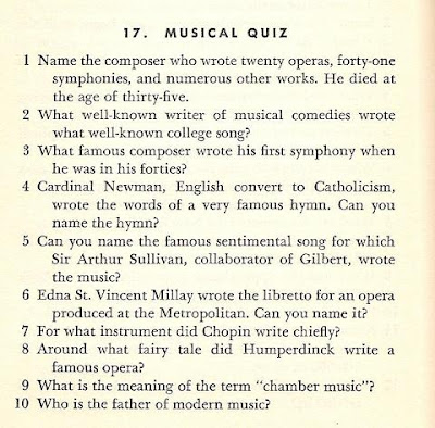 Musical Assumptions Musical Quiz From 1947