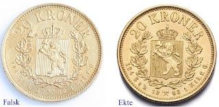gamle norske mynter verdi