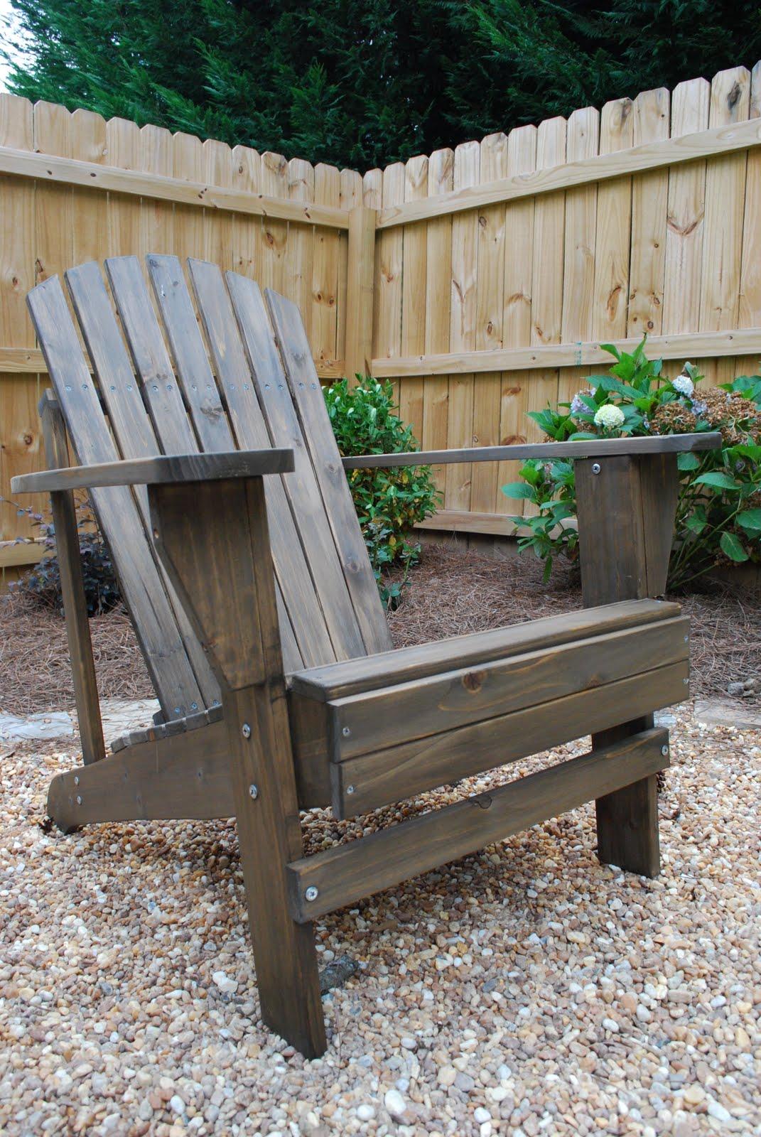 this & that: Staining Adirondack Chairs