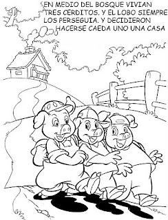 PRIMERO, PASITO A PASO: LOS TRES CERDITOS