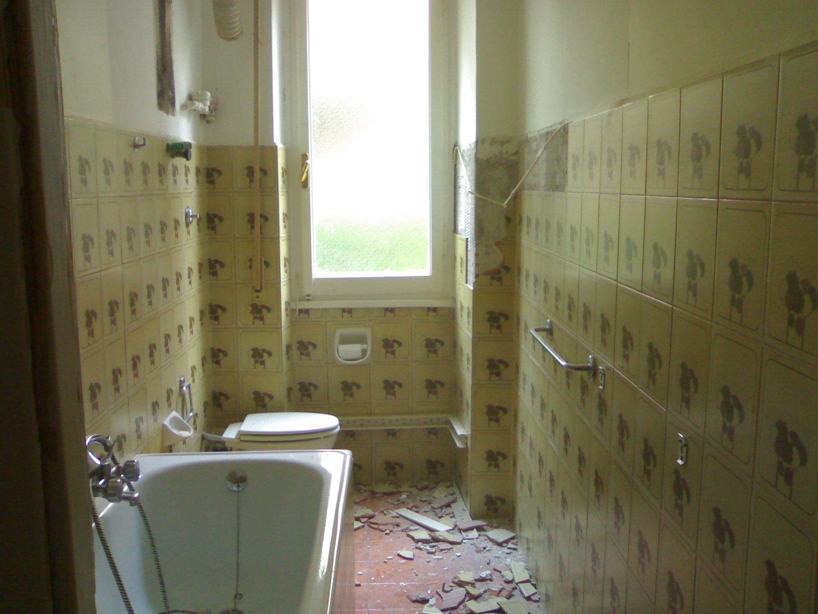Demolizione e ricostruzione bagno