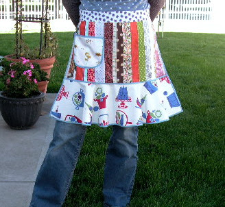 make a scrappy apron