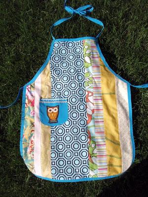reversible kid apron