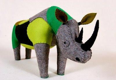 felt rhino, Mariela Marabi