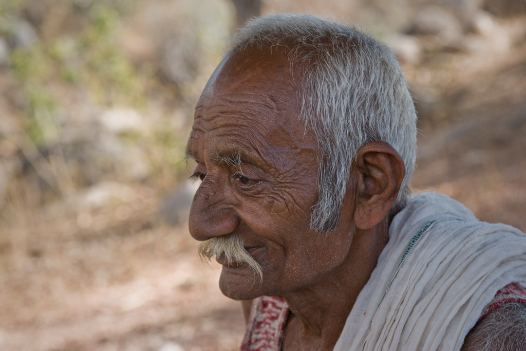 Elderly man, Barda Hills
