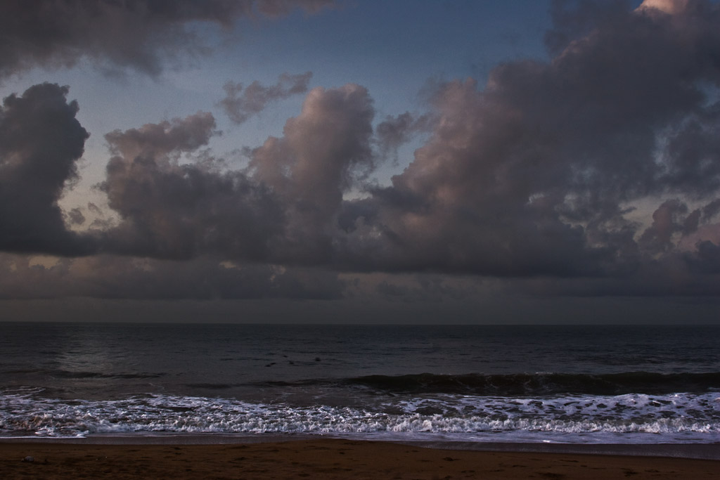 Dawn on the coast of Ghana