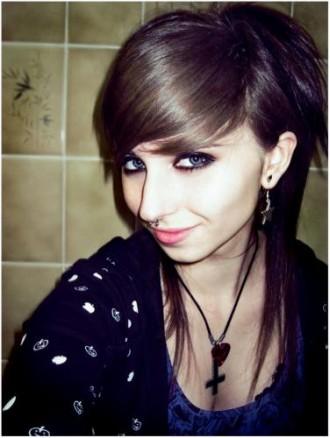 Awe Inspiring Goth Emo Hairstyles Dekstop Wallpaper Black Short Hairstyles Gunalazisus