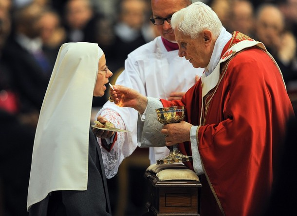 Image result for Best form of receiving the holy eucharist; mouth or hand?