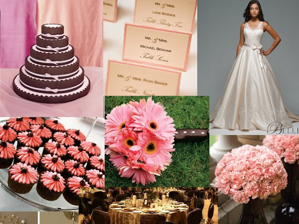 Pink & Brown Inspiration Board