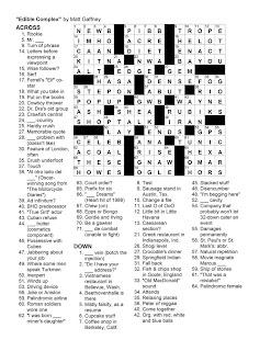 Matt Gaffney's Weekly Crossword Contest: December 2010