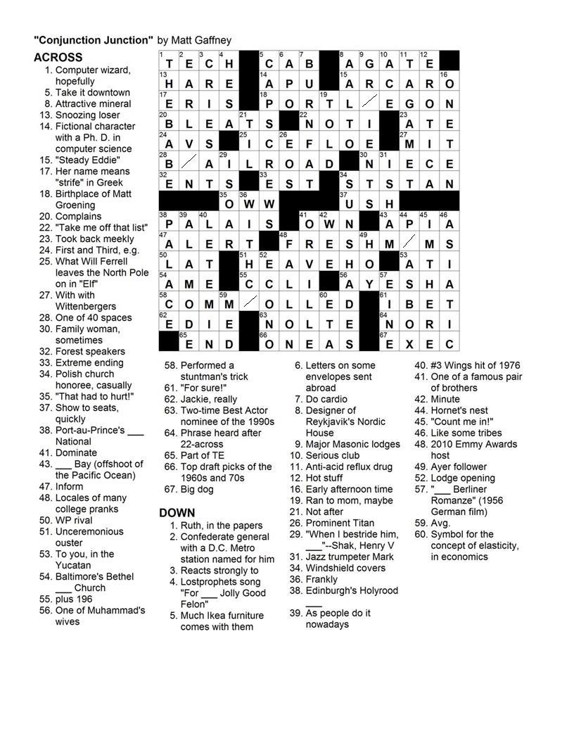 Essay citation crossword clue