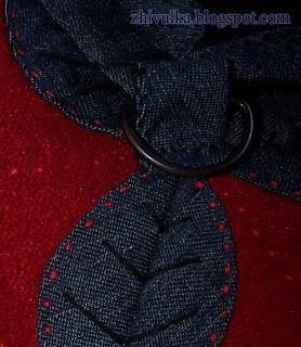 как сшить маленькую сумку из джинсовой ткани.
