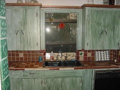 Painting Sponge Technique For Kitchen Cabinets