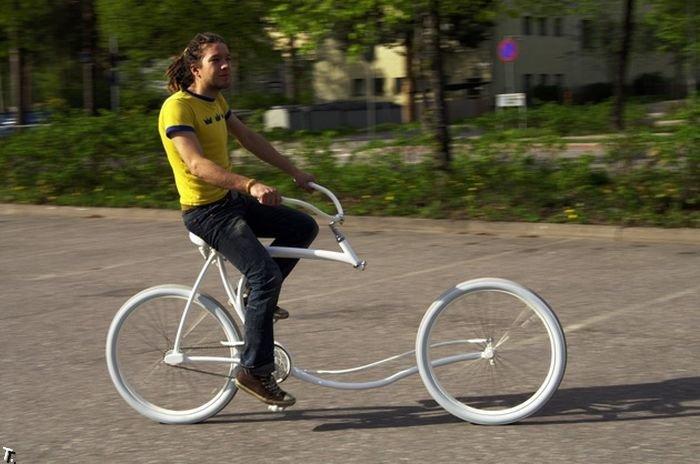 Forkless cruiser, uma bicicleta sem garfo