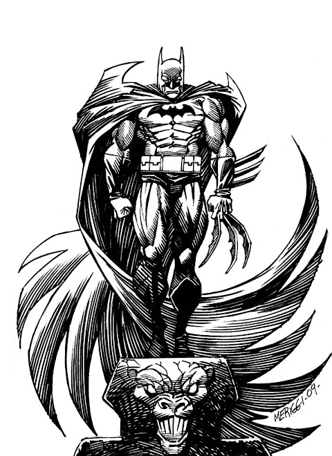 BATMAN YEAR 70 / INK AND PENCIL MERIGGI