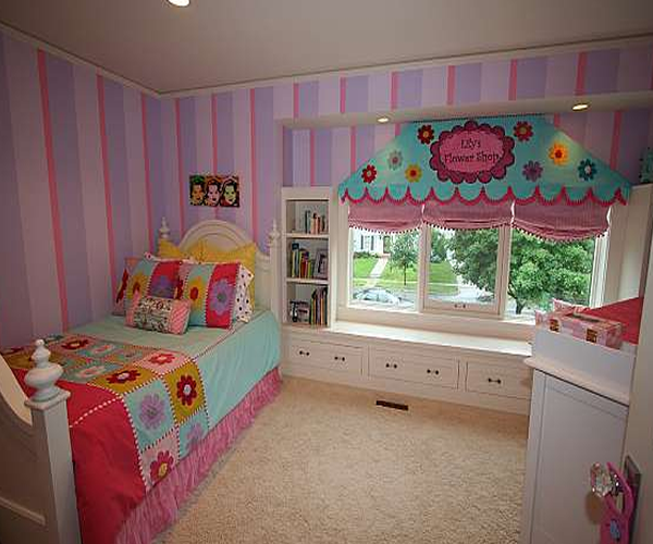 Teen Girl Badroom With Decorating IdeaHOME DESIGNS