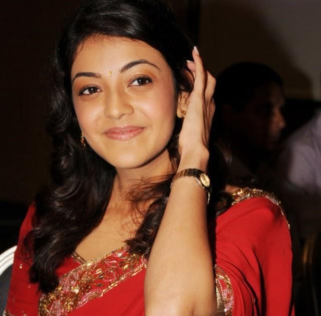 Actress KAJAL AGARWAL In Red Hot Saree