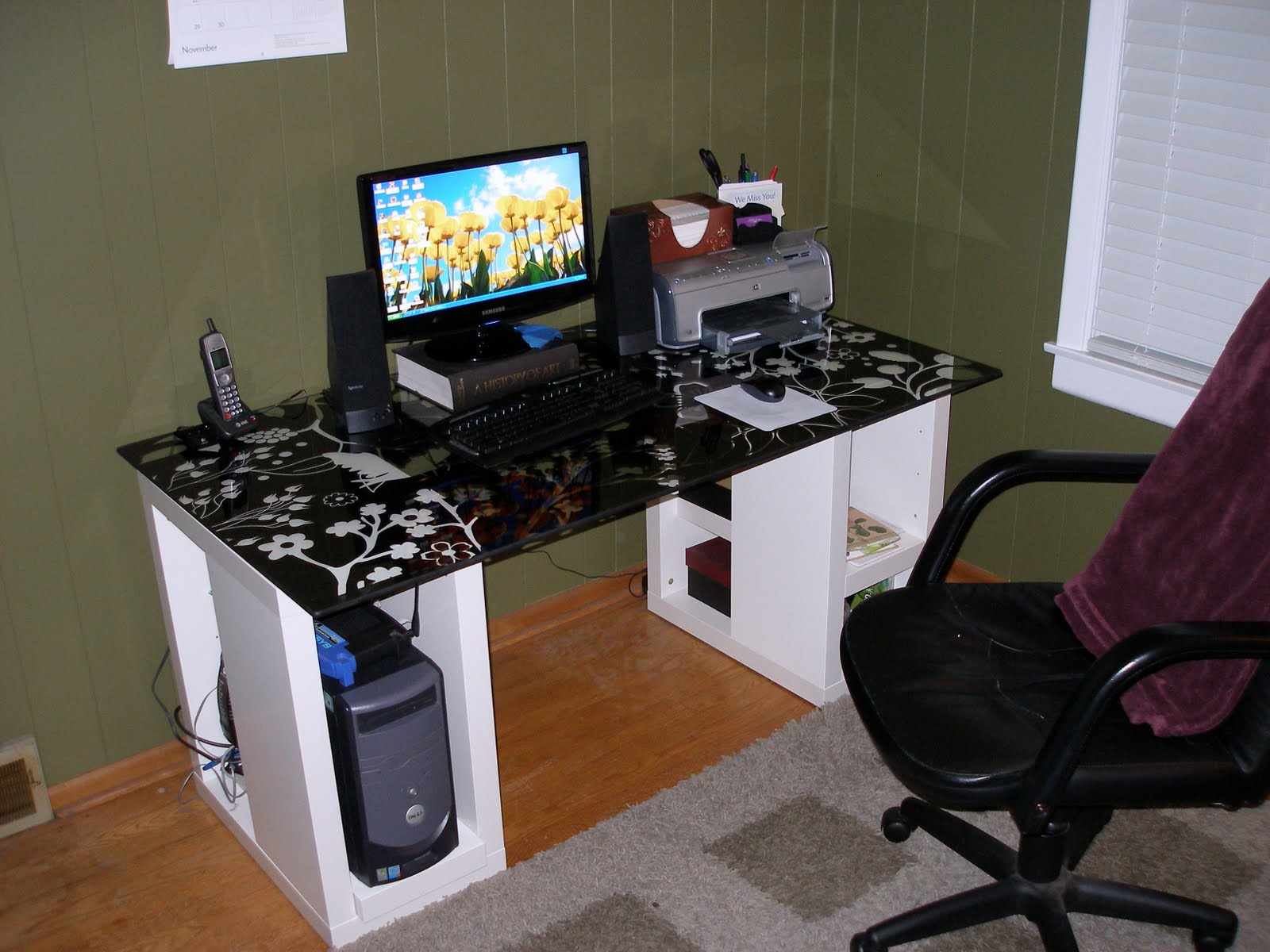 Home Computer Workstation Ideas Homemade Computer Desk Plans Pdf Woodworking