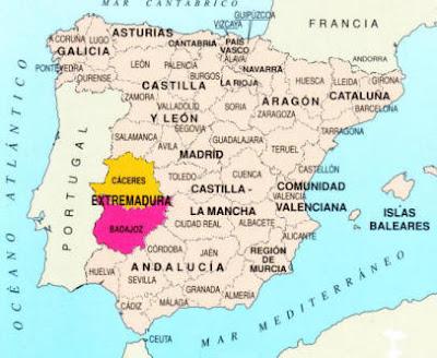 mapa estremadura espanha AS VOLTAS DO VENTO: A Extremadura Espanhola mapa estremadura espanha