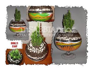 inSABBIAndo: Sand Art: COLORADO, vaso in sabbia colorata