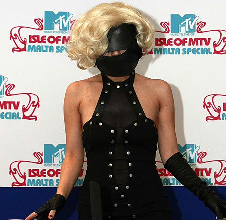 Can I borrow your mask Lady Gaga?