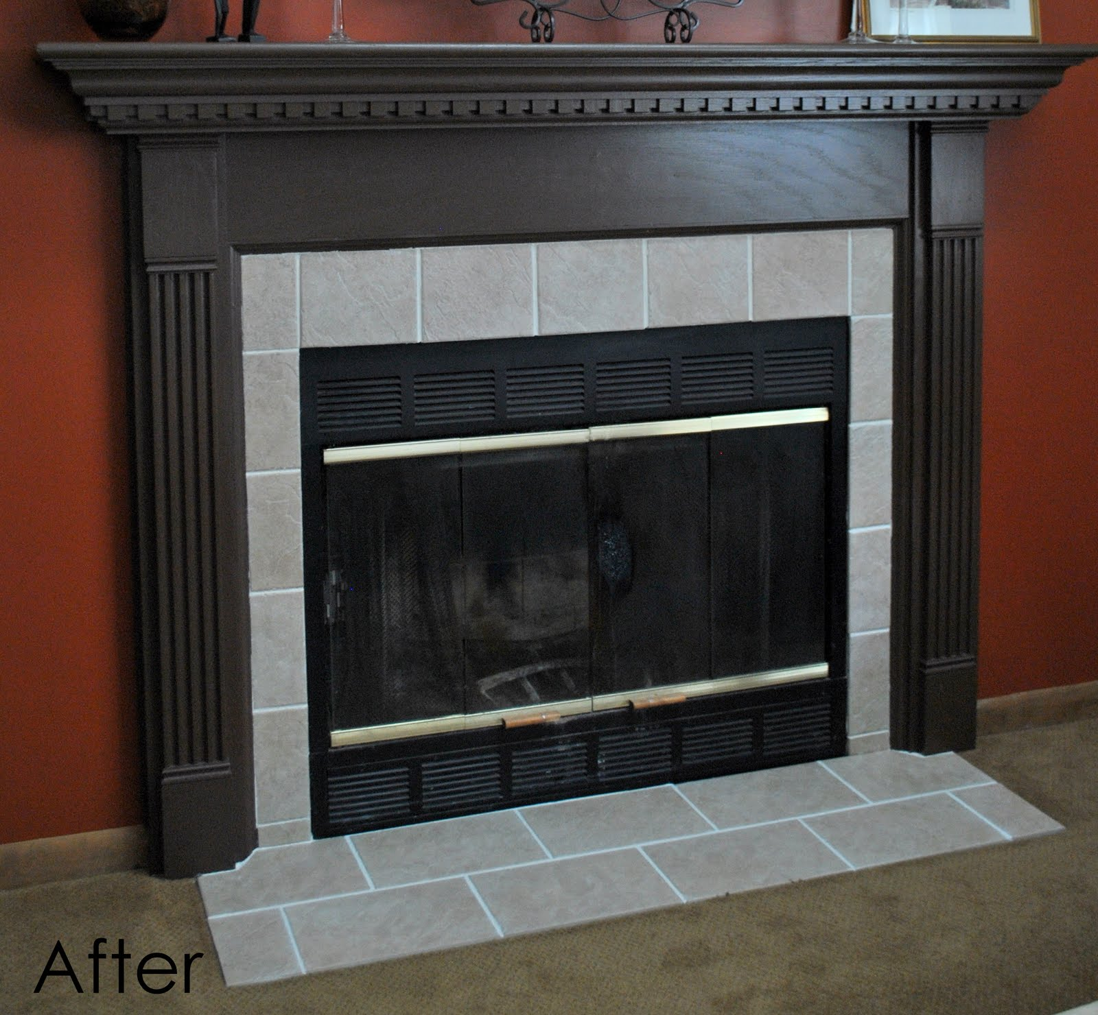 DIY: Fireplace Surround Transformation