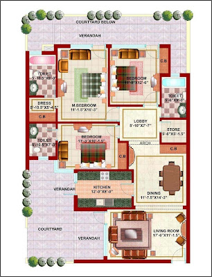 Excellent House Map Of 9 Marla Joy Studio Design Gallery Best Design Cool Largest Home Design Picture Inspirations Pitcheantrous