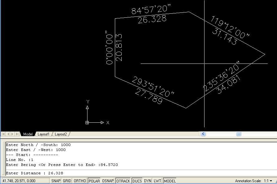Land Surveyor: Autocad LISP program ~ LOOP