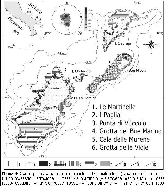 Cartina Geografica Delle Isole Tremiti.Georesearch Center Italy Considerazioni Geologiche Tettoniche E Geomorfologiche Delle Isole Tremiti