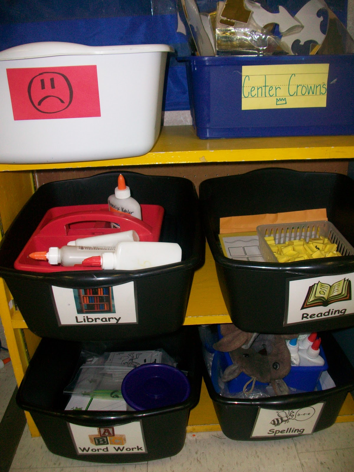 First Grade School Box Ela Center Tubs