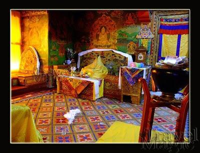 palace Dalai-Lama Lhasa Tibet Potala inside