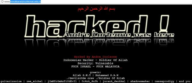 "Indonesian Hacker ""Andre_Corleone"" Deface Osvukkaradziczitkovac.edu.rs & Businesslicense.go.ke"