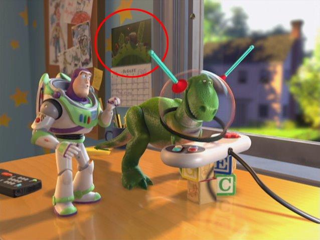 En varias tomas del cuarto de Andy en Toy Story 2 se puede ver un  calendario pegado en la pared. La ilustración corresponde a un arte  conceptual de las ... 12bcc450e67