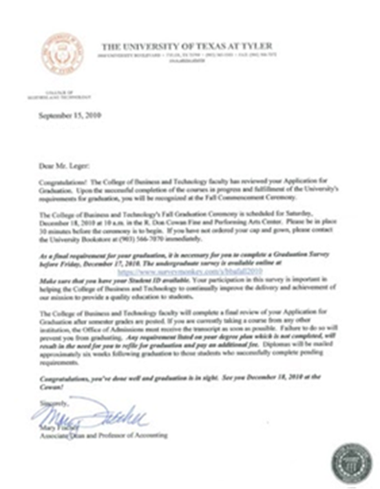 when do college acceptance letters arrive the ut student acceptance letter 25617 | Picture1
